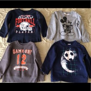 Bundle of 4 Toddler Boys Sweaters